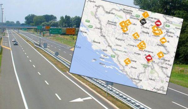 Saobraća se po pretežno mokrom ili vlažnom kolovozu
