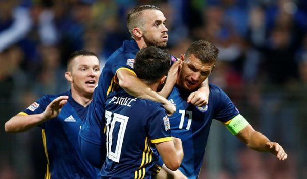 Reprezentacija BiH protiv Italijana na stadionu Artemio Franki